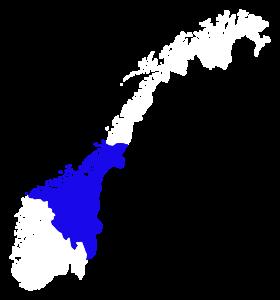 Kart over Norges-delen