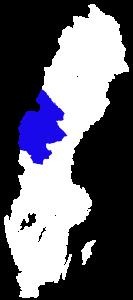 Kart over svenske-delen